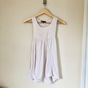 AEO Embroidered Baby Doll Tank